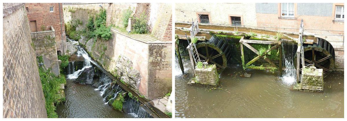 Mit den Wasserrädern wurden die Mühlen betrieben