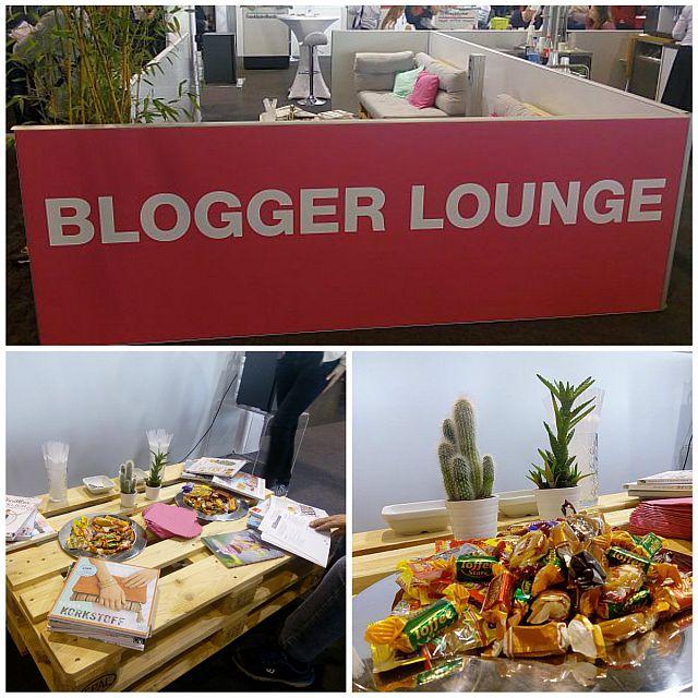 Pause machen in der Blogger Lounge auf der Kreativwelt in Frankfurt
