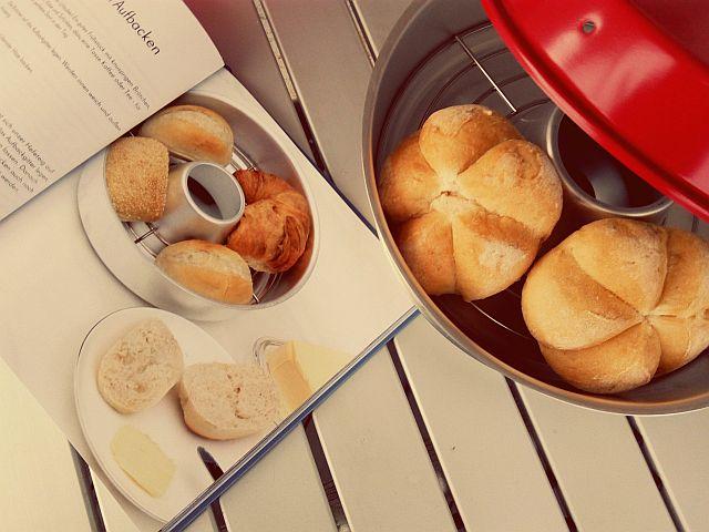Morgens glutenfreie Brötchen im Wohnmobil aufbacken