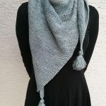 "Dreiecks-Tuch ""Cosy Ice Blue"" - Design Bo Smint"