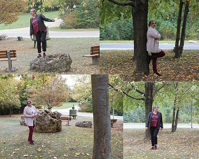 Outfit in herbstlichen Rottönen