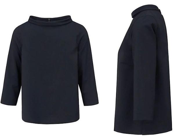 Bluse puristisch und raffiniert