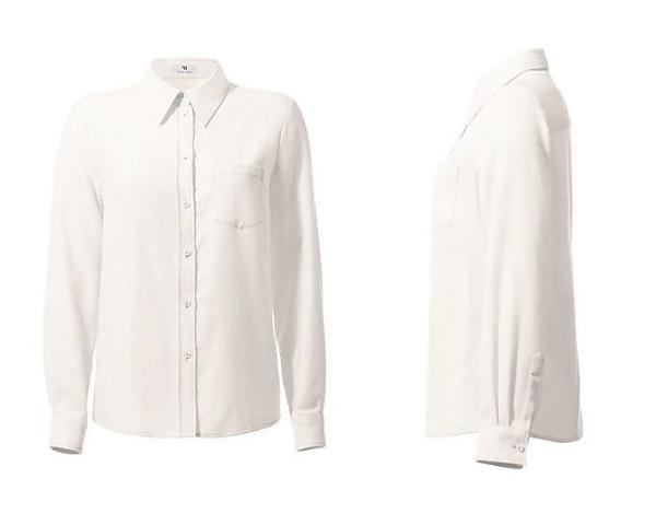 Klassische Bluse mit Hemdkragen