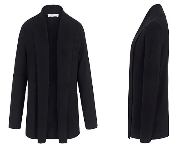 Long-Cardigan in schwarz