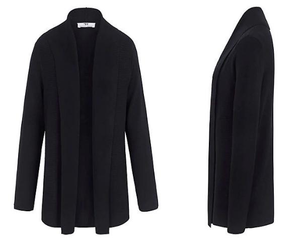 Long-Cardigan in schwarz