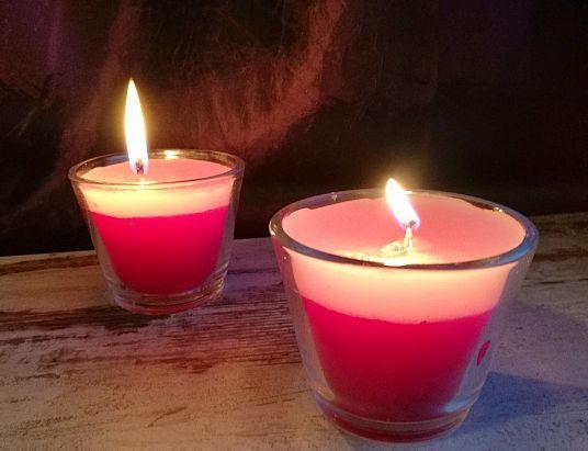 Fertige Kerzen- Aus alt mach neu