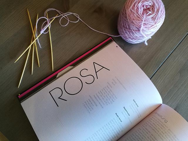 Rosa Socken stricken